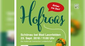 Ankündigung Hofroas Schönau