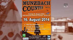 Ankündigung Countryfestival in Münzbach