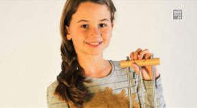 Friedenslichtkind Melanie Walterer aus Klam