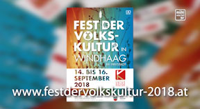 Ankündigung Volkskulturfest in Windhaag bei Freistadt