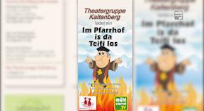"Ankündigung Theater Kaltenberg 2020 ""Im Pfarrhof is da Teifi los"""