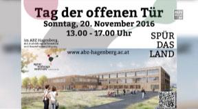 Ankündigung Ausbildungszentraum Hagenberg, Tag der offenen Tür, 20.11.2016, 13 - 17 Uhr