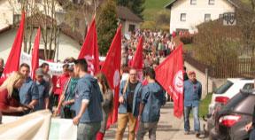SPÖ: Gute Stimmung beim roten Aufmarsch in Sandl