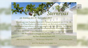 Ankündigung Sternroas in Bad Leonfelden am 20. September