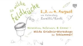 Ankündigung Kochkurs Wilde Feldküche am 2., 3. oder 4. August