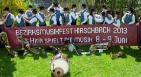 Ankündigung: Bezirksmusikfest in Hirschbach 2013