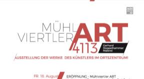 Ankündigung Mühlviertler Art in St. Martin 18.8.-23.9.2017