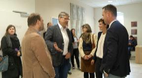 SPÖ-Bundesvorsitzende Rendi-Wagner zu Gast im Gesundheitszentrum Haslach