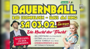 Ankündigung Bauernball in Bad Leonfelden 2018