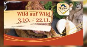 Ankündigung Wildwochen im Gasthaus Blumauer