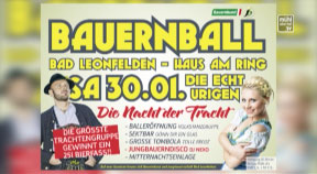 Ankündigung Bauernball in Bad Leonfelden 2016