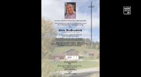 In Memoriam Alois Weißenböck aus Grünbach