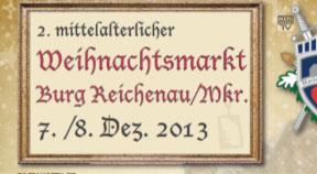 Ankündigung Mittelalterlicher Advent auf der Burg Reichenau
