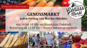 Ankündigung Eröffnung Genussmarkt