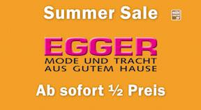 Summer Sale bei EGGER Moden