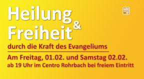 """Ankündigung """"Frank Breido - Heilung und Freiheit durch die Kraft des Evangeliums"""""""