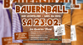 Ankündigung Bauernball Bad Leonfelden 2019