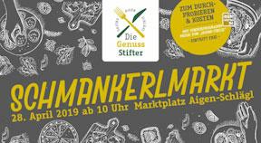 Ankündigung Schmankerlmarkt in Aigen-Schlägl