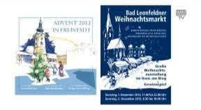 Ankündigung Weihnachtsmärkte Freistadt u. Bale