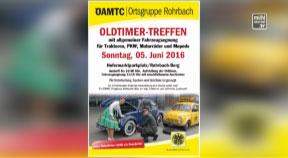 Ankündigung Oldtimerausfahrt des ÖAMTC-Clubs Rohrbach am 5.6.2016