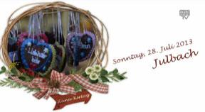 Ankündigung Markttag in Julbach