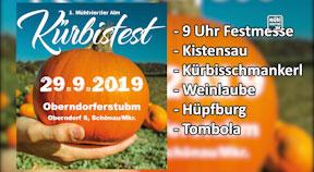 Ankündigung Kürbisfest Oberndorfer Stubm in Schönau
