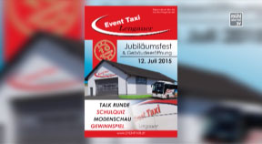Ankündigung Event Taxi - Jubiläumsfest mit Gebäudeeröffnung