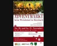 Ankündigung Adventmarkt in Rainbach am 26. und 27. November