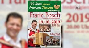 Ankündigung  30 Jahre Gasthof Pammer mit Franz Posch