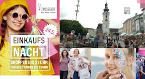 Ankündigung Lange Einkaufsnacht in Freistadt