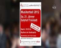 Ankündigung Musikerball der Stadtkapelle Freistadt 2012