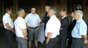 Bezirkstag von Wirtschaftslandesrat Strugl und WB-Dir. Greil in Rohrbach