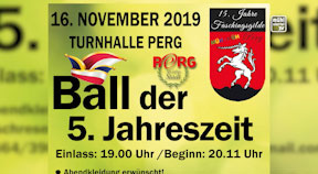 "Ankündigung Faschingsball ""Ball der 5. Jahreszeit"""