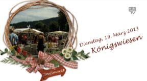 Ankündigung Josefimarkt in Königswiesen