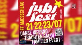 Ankündigung Jubifest der FF Amesschlag, Wahl Mr. Sterngartl