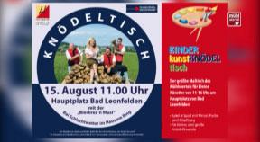 Ankündigung Knödeltisch in Bad Leonfelden 2017