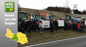 Milchpreis-Protestaktion beim Spar in Mittertreffling