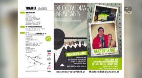 Ankündigung Theater in der Kulturfabrik Helfenberg 2014