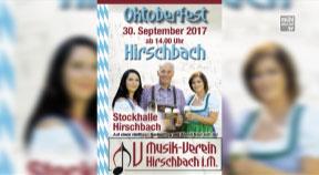 Ankündigung Oktoberfest in Hirschbach am 30.9.2017