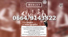 Ankündigung Konzert der Medley Folk Band aus St. Martin i. Mkr. in St. Oswald am 4.5.2016