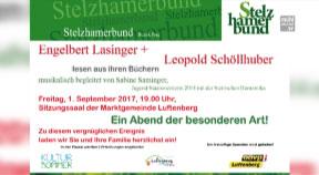 Ankündigung Autorenlesung vom Stelzhammerbund in Luftenberg