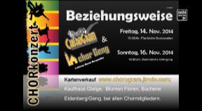 """Ankündigung Chorkonzert von """"Chorogram"""" in Gramastetten"""