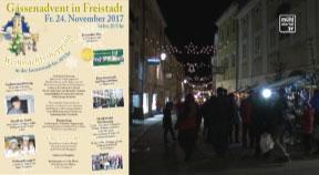 Ankündigung Gassenadvent in Freistadt