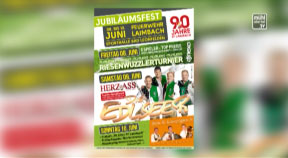 Ankündigung Jubiläumsfest 90 Jahre FF Laimbach