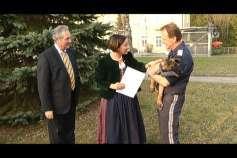 Patenschaft für Polizeihund in Bad Kreuzen