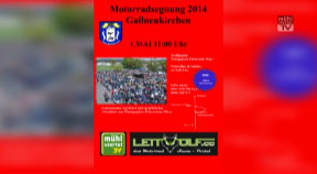 Ankündigung Motorradsegnung in Gallneukirchen am 1. Mai