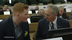 Mit Viktor Sigl in Brüssel