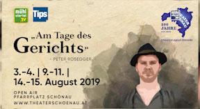 """Ankündigung Theater Schönau """"Am Tage des Gerichts"""" zum 100-jährigen Jubiläum"""