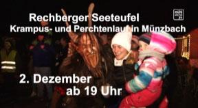 Ankündigung Perchtenlauf in Münzbach am 2.12.2107
