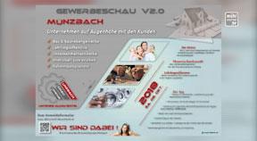 Ankündigung Gewerbeschau Münzbach